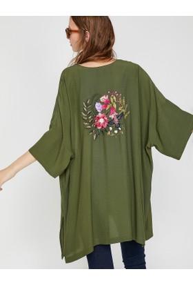 Koton Kadın İşlemeli Kimono