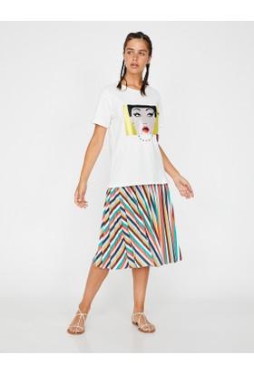Koton Kadın Puantiye Detaylı Etek