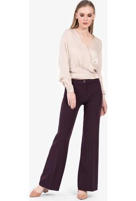 İroni Bol Paça Kumaş Pantolon