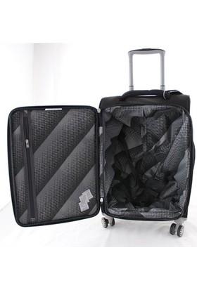 It Luggage 2148 Orta Boy Kumaş Valiz Siyah