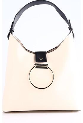 Dsn Y4352 Kadın Günlük Çanta Bej Siyah