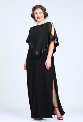 Angelino Butik Kl8022 Siyah Abiye Elbise