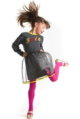 Mushi Tüllü Smiley Elbise
