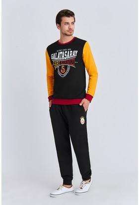 Galatasaray Lisanslı Erkek Eşofman Takımı Siyah