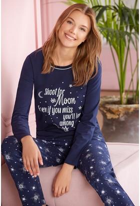 Pierre Cardin Kadın Pijama Takımı Lacivert