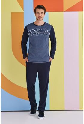 Roly Poly Alphabet Erkek Pijama Takımı Lacivert