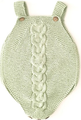 Pacco Baby Yeşil Burgu Tulum