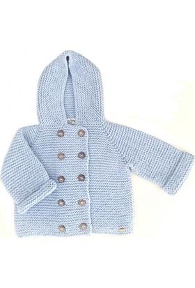 Pacco Baby Mavi Kapşonlu Mont