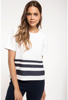 Defacto Kadın Şerit Çizgili Bluz