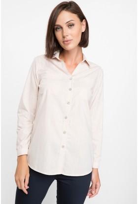 Defacto Kadın Basic Uzun Kollu Gömlek