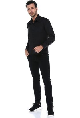 Varetta Fit Kesim Siyah Erkek Gömlek