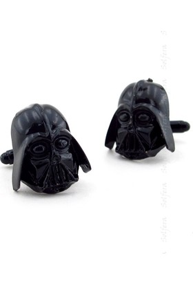 Solfera Star Wars Darth Vader Siyah Metal Kol Düğmesi Cx173