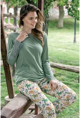 Yeni İnci BPJ1332 Uzun Kollu Kadın Pijama Takımı