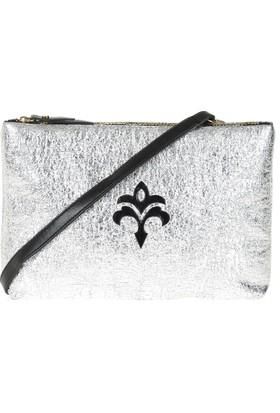 Exclusive Kadın Clutch Çanta Gümüş