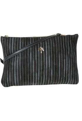 Exclusive Hakiki Deri Kadın Clutch Çanta Siyah