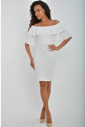 Espenica 3866 İlayda Daldıç Krep Taşlı Elbise