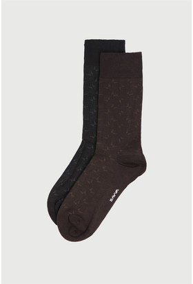 Avva 2 Li Desenli Çorap