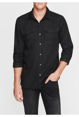 Mavi Erkek Cepli Siyah Denim Gömlek
