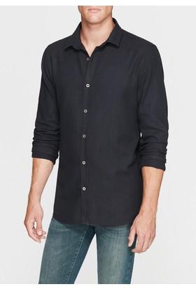 Mavi Erkek Cepsiz Siyah Jean Gömlek