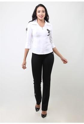 Dodona 2987 Özel Tasarım Siyah Kadın Pantolon
