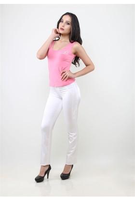 Dodona 1143 Özel Tasarım Beyaz Kadın Pantolon