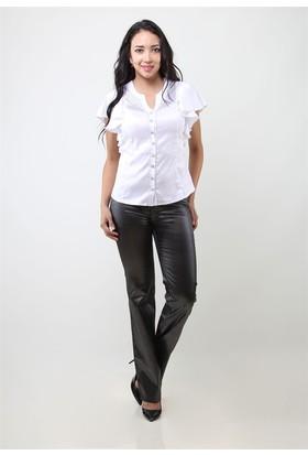Dodona 4010 Gümüş Çizgi Baskılı Kadın Pantolon