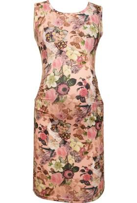 Luvmabelly 5003 Çiçekli Hamile Elbise