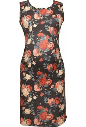 Luvmabelly 5005 Çiçekli Hamile Elbise