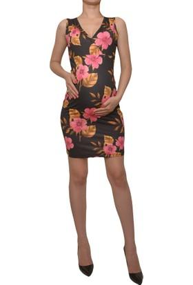 Luvmabelly 5508 Çiçekli Lohusa Emzirme Elbise