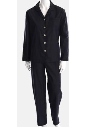 The Don Siyah Desenli Poplin Kadın Pijama Takımı