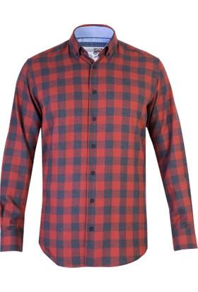 Kiğılı Uzun Kol Tasarım Flanel Gömlek