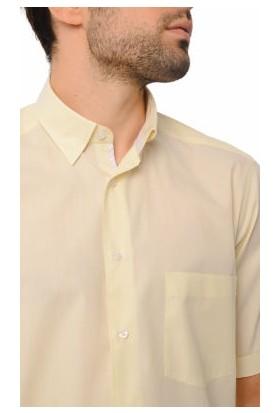 Hatemoğlu Sarı Erkek Düz Regular Gömlek