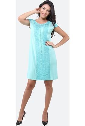Dodona 3094 Yeşil Elbise