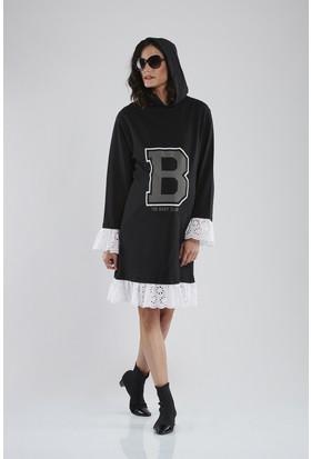 Lyn Devon Kay Sweat Elbise Siyah