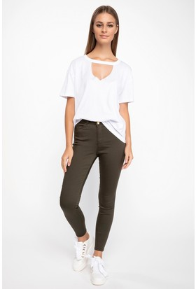 Defacto J0203Az18 Anna Yüksek Bel Super Skinny Fit Pantolon
