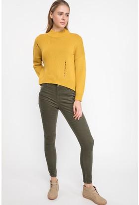 Defacto J1542Az18 Anna Yüksek Bel Skinny Fit Pantolon