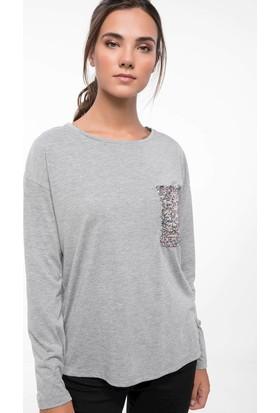 Defacto J4036Az18 Payet Cep Detaylı T-Shirt