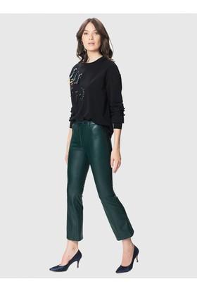 Roman Yeşil Kadın Pantolon