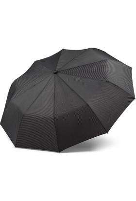 Almera Tam Otomatik Erkek Şemsiye - Baklava Desenli