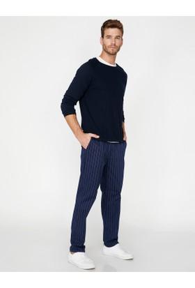 Koton Erkek Çizgi Detaylı Pantolon