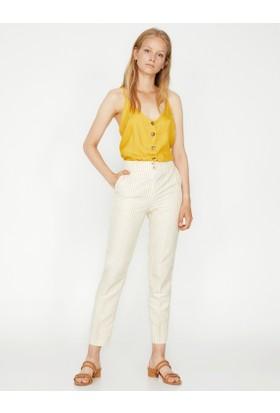 Koton Kadın Çizgi Detaylı Pantolon