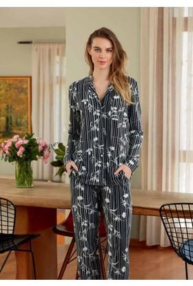 Eros Esk22510 Gömlek Uzun Kollu Pijama Takımı
