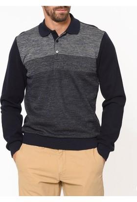 Tena Erkek 7581 Polo Yaka Sweatshirt