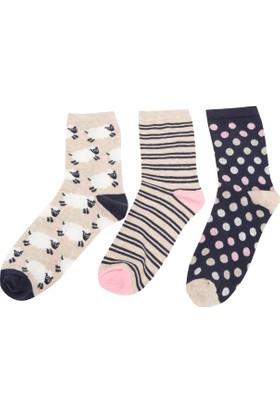 Defacto Kadın 3'Lü Çorap Seti