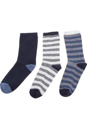 Defacto Erkek Çocuk Çizgili 3'Lü Çorap Seti