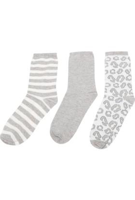 Defacto Kadın 3'Lü Jakarlı Çorap