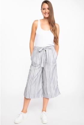 Defacto Kadın Bağlama Detaylı Culotte Pantolon