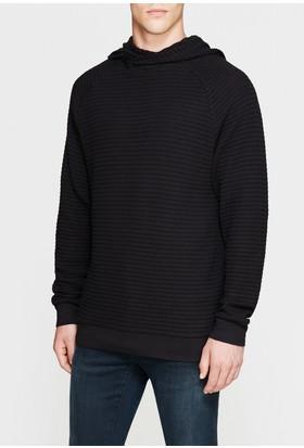 Mavi Erkek Kapüşonlu Siyah Sweatshirt
