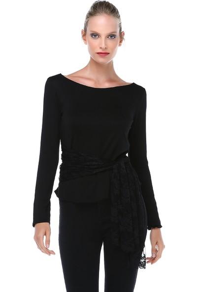 Quincey Kadın Dantel Kemerli Bluz