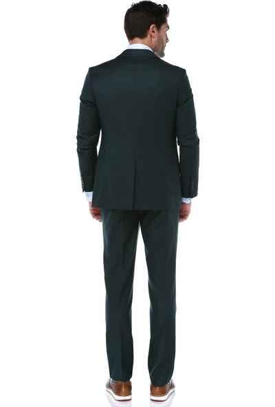 İmza Slim Fit Desenli Takım Elbise
